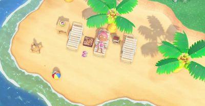 島でひなたぼっこをしている人